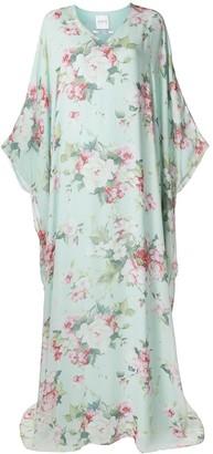 Ingie Paris Bouquet-Print Long Dress