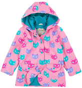 Hatley Girls' Silly Kitty Raincoat, Pink
