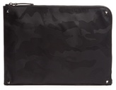 Valentino Camouflage-print Nylon Document Holder