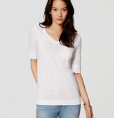 LOFT Long V-Neck Pocket Tee