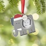 Crate & Barrel Baby's First Christmas Photo Frame with 2016 Charm Ornament