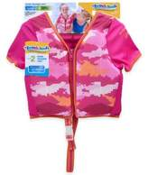 Aqua Leisure Size M/L Girls' Short Sleeve Camo Swim Vest in Pink