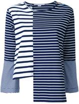 Stella McCartney asymmetric striped top - women - Cotton - 38