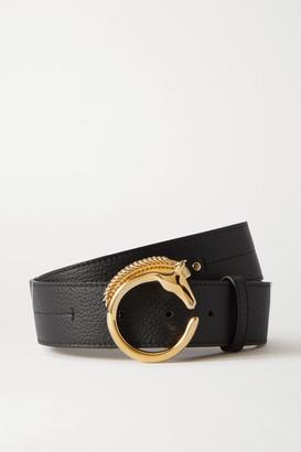 Chloé Embellished Textured-leather Belt - Black