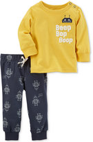 Carter's 2-Pc. Cotton Graphic T-Shirt and Printed Pants Set, Baby Boys (0-24 months)