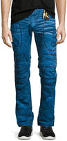 Robin's Jeans Embellished & Distressed Moto Skinny Jeans, Blue
