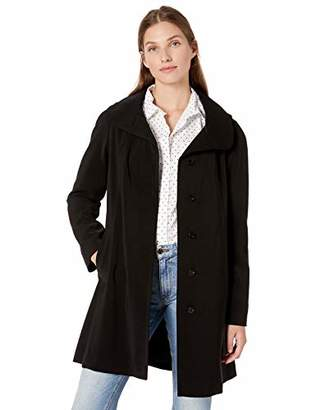 Gallery Women's Plus Size SSY Casual Thigh Length Rain Coat with Detachable Hood