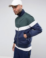 Asos Zip Through Track Jacket With Color Block