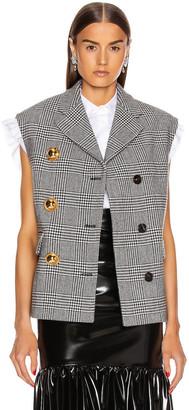 Miu Miu Sleeveless Jacket in Nero | FWRD