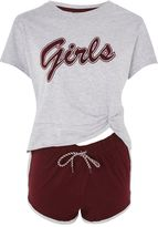 Topshop 'Girls' Slogan Pyjama Set