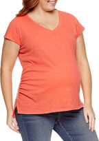 A.N.A a.n.a Short Sleeve V Neck T-Shirt-Plus Maternity