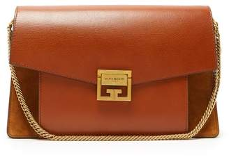 Givenchy Gv3 Medium Suede And Leather Shoulder Bag - Womens - Tan