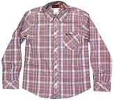 Ben Sherman Kid's Blue Romulus Plaid Shirt