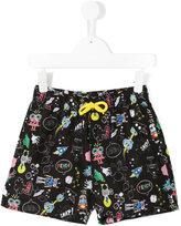 Fendi Space Robots swim shorts - kids - Polyester - 6 yrs