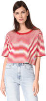 Marc Jacobs Striped Crop Boxy Top