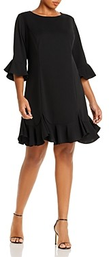 Adrianna Papell Plus Ruffle-Trimmed Dress