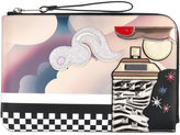 Marc Jacobs Julie Verhoeven Clouds clutch - women - Leather/Calf Hair - One Size