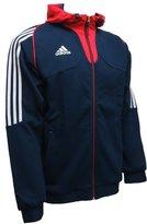 adidas Mens Hoody Full Zip Hooded Sweatshirt Training Navy XS-3XL F90331