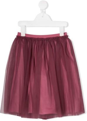 Il Gufo Tulle Overlay Skirt