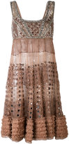 Amen beaded detail mini dress - women - Silk/Polyamide/Viscose/glass - 40