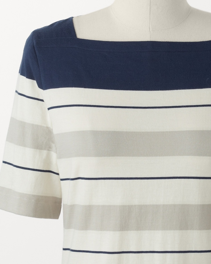 Coldwater Creek Boatneck stripe top