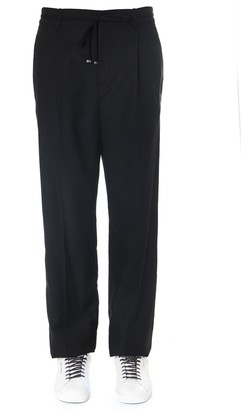 Saint Laurent Black Wool Tailored Joggers Pants