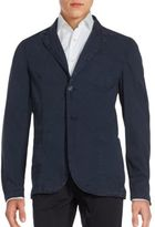 Solid Cotton Blazer