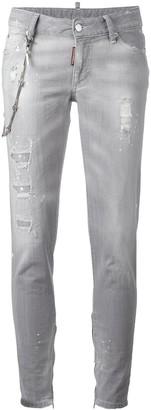 DSQUARED2 Skinny chain trim jeans