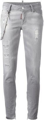 DSQUARED2 Skinny chain trim jeans