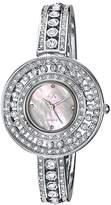 Adee Kaye Women's Quartz Brass Dress Watch, Color:Silver-Toned (Model: AK9116-L)