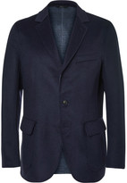 Brioni Navy Double-Faced Wool, Silk and Cashmere-Blend Blazer