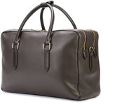 Smythson logo stamp holdall - men - Leather - One Size