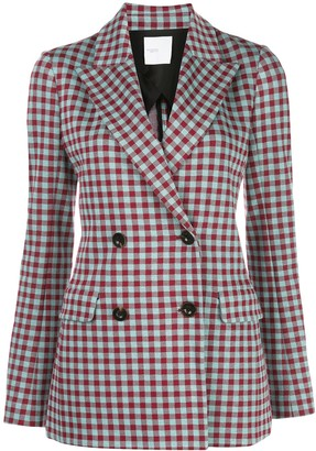 Rosetta Getty Gingham Double-Breasted Blazer