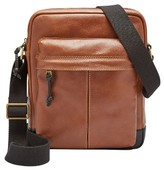 Fossil Men's Defender Ns Leather City Bag - Metallic