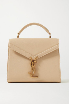 Saint Laurent Cassandra Mini Textured-leather Tote - Beige