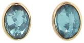Jamie Joseph Large Oval Inverted Apatite Stud Earrings