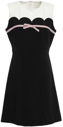 Kate Spade Bow-embellished Crepe Mini Dress