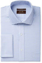 Tasso Elba Men's Classic Fit Non-Iron Herringbone French Cuff Dress Shirt, Created for Macy's