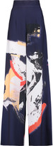 SOLACE London Millie printed crepe de chine wide-leg pants