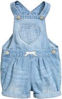 H&M Denim Bib Overall Shorts - Light denim blue - Kids