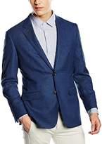 Brooks Brothers Men's Sportcoat Milano 2Bottoni Spacchi Laterali Hopsack Blue Jacket