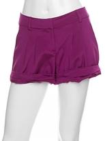 Alex Lane Pleated Silk Shorts