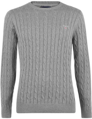 Gant Cotton Cable Knit Crew Jumper