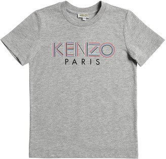 Kenzo Logo Printed Cotton Blend T-shirt
