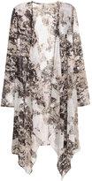 H&M Chiffon Cardigan - White/black patterned - Ladies