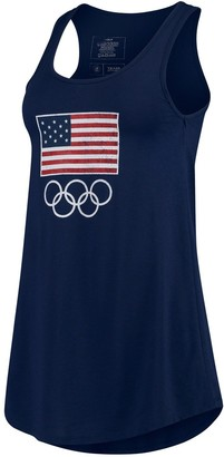 Outerstuff Women's Navy Team USA Flags for Rings Tank Top