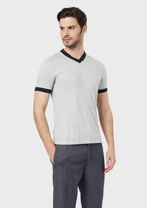 Giorgio Armani T-Shirt In Viscose And Silk Jersey