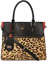 *LYDC Coral Lock Front Tote Bag