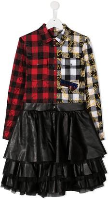 John Richmond Junior TEEN tartan shirt dress