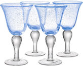 Artland Iris Set of 4 Glass Goblets